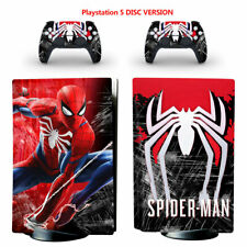 Spiderman Vinyl Decal Skin Sticker for PS5 Console Controllers Disc Version
