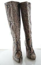 12-63 MSRP $140 Women's Size 8M Kinga Embossed Knee High Boot