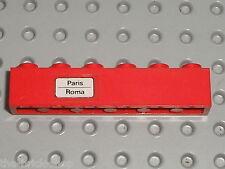 Autocollant LEGO Train brick with stickers PARIS-ROMA / Set  7710 Push Train