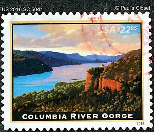US SC 5041 $22.95 COLUMBIA RIVER GORGE UNG PRIORITY MAIL STAMP 2016 F/VFINE