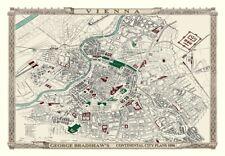 George Bradshaw'S CONTINENTAL Piano della città di Vienna 1896 - 1000 Pezzo Puzzle