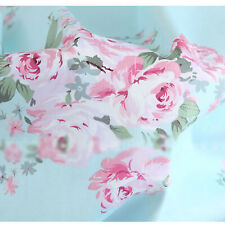 f5d8e975e6c Floral Cotton Fabric on Blue - Sheeting Bedding Home Decor Craft - Shabby  Chic