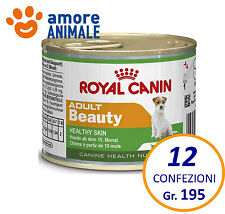 12 confezioni Royal Canin Dog Mini Adult Beauty 195 grammi - umido per cani