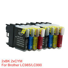 8x Ink Cartridges LC 980 LC990 LC985 Compatible For Brother J315W J515W J140W