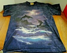 Jumping Dolphins by The Mountain Graphic Blue T-shirt