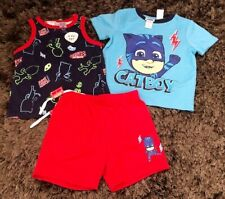 PJ Masks 3 piece pyjamas set NWT Size 3