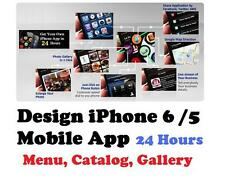 iPhone 6 Mobile App Design in 24 Hours for Your Business, Menu, Catalog, Product