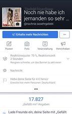 Facebook Seite 83% Frauen 17,8 k Deutsch