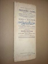 PARTICULARS OF FARMS etc. FOR SALE BY AUCTION in 1891 OLDHAM. MANCHESTER etc.