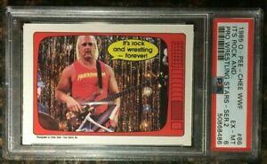 """1985 OPC WWF #66 """"It's Ro..."""" Hulk Hogan PSA 6 EX-MT Series 2 WWE Wrestling Card"""
