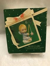 "1983 Hallmark Cards ""Betsey Clark� Hand Painted Fine Porcelain 3� Angel Ornament"