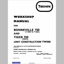 TRIUMPH 73-78 Tiger 750, Bonneville 750, Service Manual E-Book Pdf