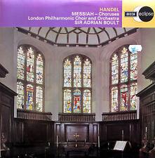 ECS 566 Handel Messiah Choruses Sir Adrian Boult NM/EX Decca Eclipse