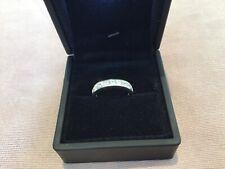 1.0 Carat Diamond Brilliant Round Cut Half Eternity Ring Platinum Finish M &Half
