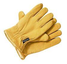 Gants et moufles jaunes en cuir pour homme