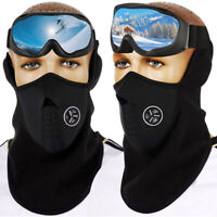 Anti-Fog OTG Ski Goggles Over Glasses & Soft Fleece Warmer Face Mask for Winter