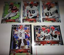 CLEVELAND BROWNS= COMPLETE TEAM SET=2015 TOPPS  60th TOPPS ANNIVERSARY, FOIL STA