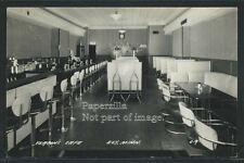 MN Ely RPPC 1940's VERTIN'S CAFE INTERIOR Kitchy Lunch Counter CHROME CHAIRS C-9