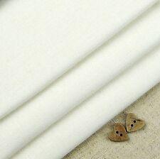 Robert Kaufman Essex Linen White Linen blend fabric / blind cream dressmaking