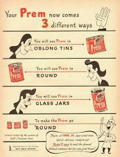1943 WW2 ad, PREM Canned Meat Product b y Swift, 'Buy War Bonds!' -032813