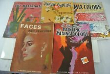 Walter T. Foster Art Books Lot of 5 - Instruction How To Books Painting Faces