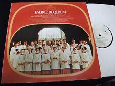 FAURE°REQUIEM<>DAVID WILLCOCKS<>LP Vinyl~US Pressing<>SERAPHIM S-60096