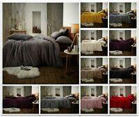 Teddy Bear Fleece Duvet Cover Set Thermal Warm Soft Sherpa Bedding & Pillowcases
