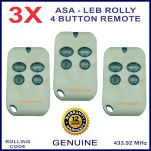 Automatic Solutions Australia Leb Rolly gate remote control -4 blue buttons X 3