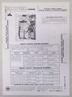 Sams Photofact Folder Parts Manual Bradford Remote Control Receiver TNQB303R etc