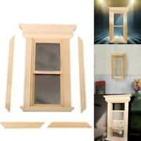 1:12 Dollhouse Furniture Miniature Doll accessories DIY 2 grid sliding window