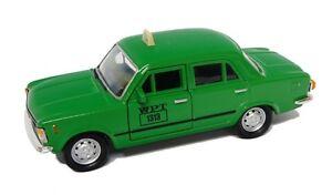 Welly Model Fiat 125p Taxi Green Prl Car 1:3 4-39 Nip