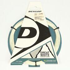 Dunlop Great White Squash Racquet String 17/1.22mm Biomimetic T624698 10M