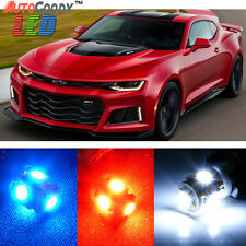 7 x Premium Xenon White LED Lights Interior Package Upgrade for Chevy Camaro