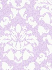 Lavender & White Dramatic Damask with Leopard Print Wallpaper PW3933