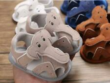 Newborn Kids Baby Boy Girl Crib Shoes Infant Animal Elephant Summer Sandals 0-18