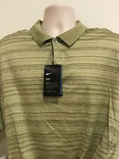 New Nike Tiger Woods Dri Fit Polo Short Sleeved Golf Shirt Mens Xl $79