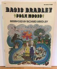 Basic Richard Bradley BIG NOTE SONG BOOK PIANO SHEET MUSIC Folk Music 1978 11M21