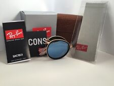 Brand New Ray-Ban RB 3517 001/30 48mm  Folding Round Gold and Silver Mirror