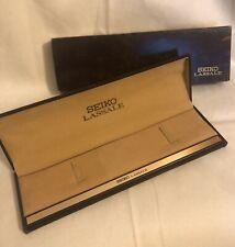 Seiko LASSALE Box Caja Scatola Boite Fondo Magazzino Vintage Watch 80's