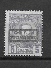Belgian Congo 1899 3Fr50 on 5fr violet with inverted overprint