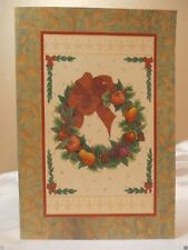 Holiday Seasonal Card Christmas Wreath Frame Bow Greeting Gift Free Ship 2+
