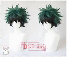 My Hero Academia Izuku Midoriya Deku Short Green Black Mix Cosplay Hair Wig