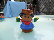 Fisher Price Little People - African / American / Brown Boy / Farmer With Corn