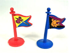 1983 Lakside Games Crossbows and Catapults - Vikings & Barbarians FLAGS Set of 2