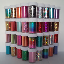 50pcs SET! Nail Art Wrap Foils Transfer Glitter Sticker Polish Decal Decoration