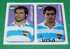 N°182 ARBIZU BARTOLUCCI ARGENTINA UAR MERLIN IRB RUGBY WORLD CUP 1999 PANINI