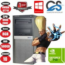 FAST GAMING DELL TOWER PC COMPUTER INTEL Q9650 QUAD CORE 3.00GHz 8GB 2GB GT710