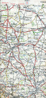 Doncaster Pontefract Cawood Selby 1938 orig. part map /canvas Hemsworth Kippax