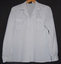 Vintage Golden Touch Womens Blouse 70s White Button Down Long Sleeve Medium M