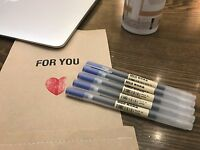 GENUIN JAPAN MUJI MoMA 0.38mm Non-Toxic Gel Ink BLUE 5pcs Ballpoint Pens F/S